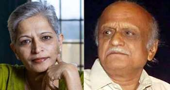 Gauri lankesh, mm kalburgi